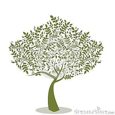 Free Stylized Tree Royalty Free Stock Images - 13336109