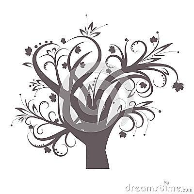 Free Stylized Tree Royalty Free Stock Images - 14786819