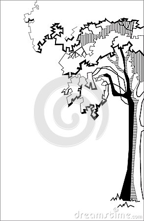 Free Stylized Tree Royalty Free Stock Images - 28922499