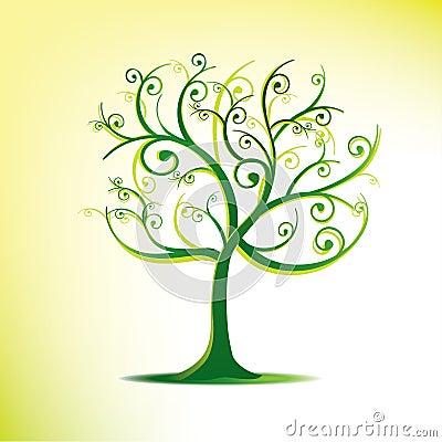 Free Stylized Tree In Swirls Stock Image - 20591721