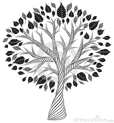 Free Stylized Tree.pencil Drawing.silhouette.graphic Arts Royalty Free Stock Images - 67250049