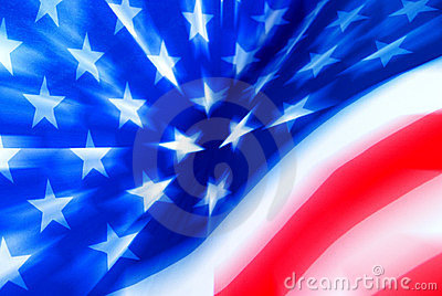 Stylized USA Flag With Zooming Effect