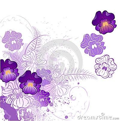 Stylized violet