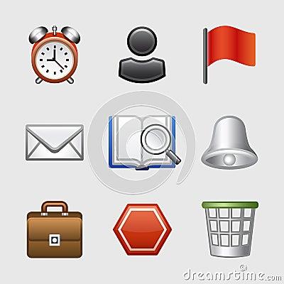 Free Stylized Web Icons, Set 01 Royalty Free Stock Image - 7695016