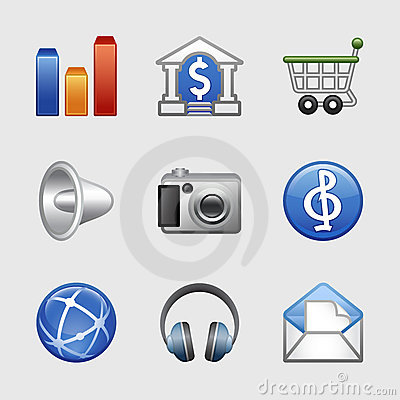 Stylized web icons, set 06