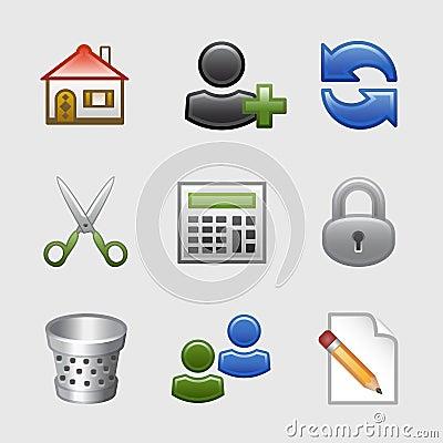 Stylized web icons, set 10