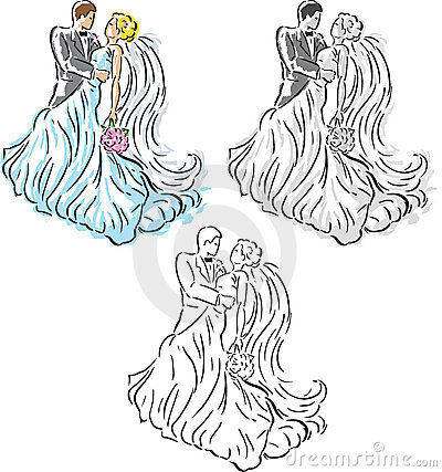 Stylized Wedding couple