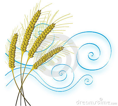 Free Stylized Wheat And Wind Stock Photos - 422583
