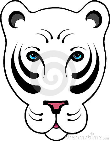 Stylized White Tiger