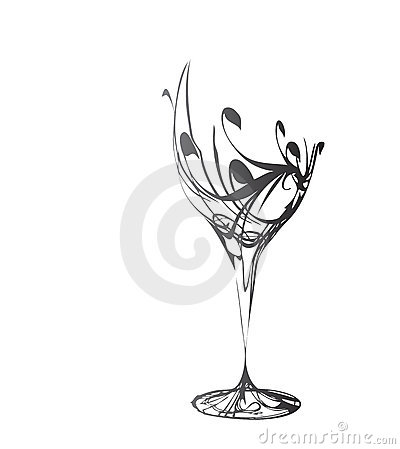 Vector wine glass