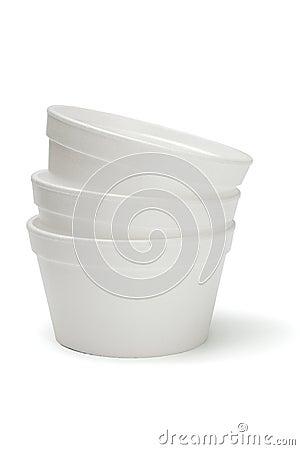 Free Styrofoam Bowls Royalty Free Stock Photos - 9407718