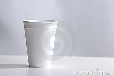 Styrofoam Cup on desk