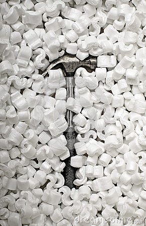 Styrofoam and Hammer