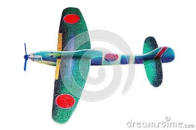 Styrofoam toy aeroplane