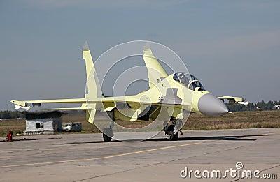 Su-30MK just landed