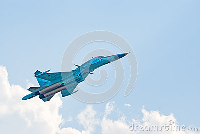 Su-34 fighter-bomber Editorial Photo