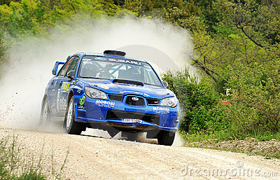 Subaru Impreza  rally Car Editorial Stock Photo