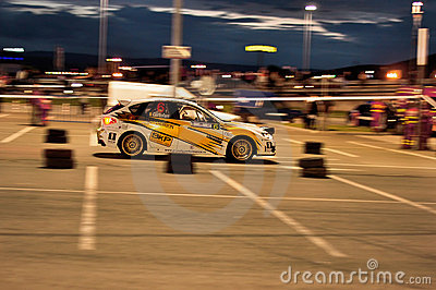 Subaru Impreza WRX Rally Car Editorial Stock Photo