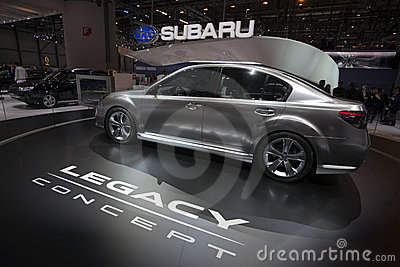Subaru Legacy Concept - 2009 Geneva Motor Show Editorial Stock Photo