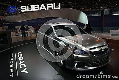 Subaru Legacy Concept - Geneva Motor Show 2009 Editorial Stock Image