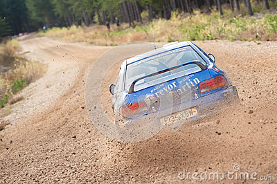 Subaru rally car Editorial Photography