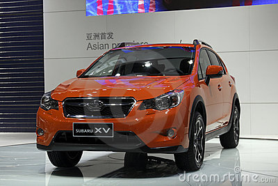 Subaru XV sedan Asia premiere in Guangzhou Show Editorial Photography
