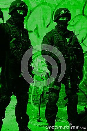 Subdivision anti-terrorist police Editorial Photography