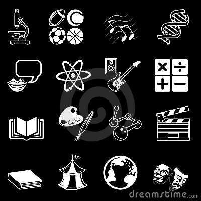 Free Subject Category Icon Set Stock Image - 1520171