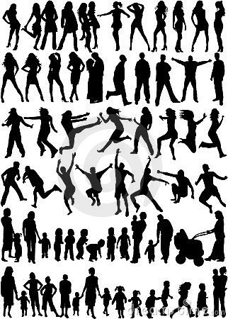 Subject People Silhouettes