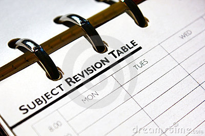 Subject Revision table page