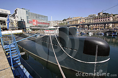 Submarine Genoa Editorial Stock Photo