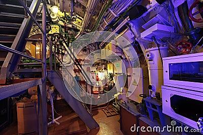 The submarine interior