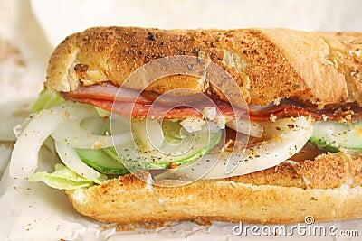 Submarine Sandwich Toasted Hearty Italian Style