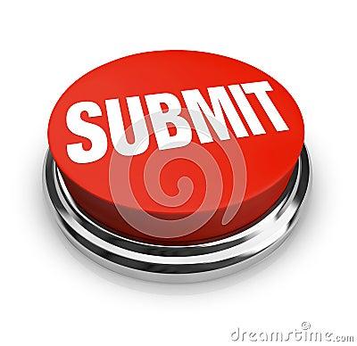 Submit Word on Round Red Button