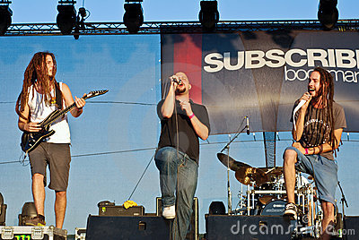 Subscribe Performing Live at Peninsula Festival Editorial Stock Image
