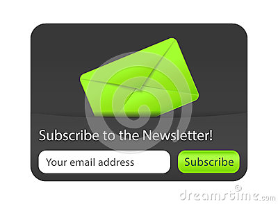 Subscribe to newsletter website element