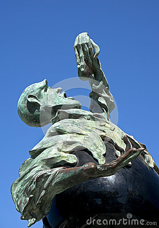 Subtle Rock Eater  (Sculpture) Editorial Stock Image