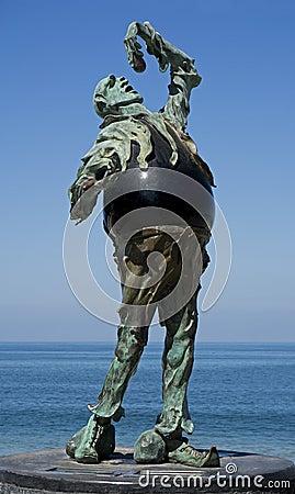 Subtle Rock Eater  (Sculpture) Editorial Photo