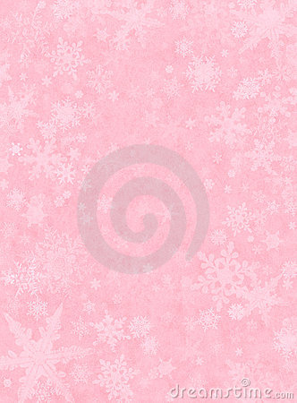 Subtle Snow on Pink