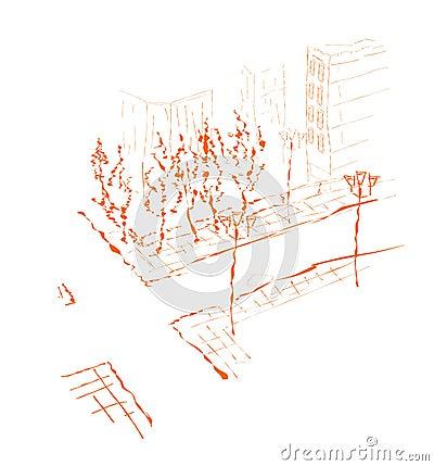 Suburb - drawing.