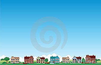 Suburb house background