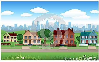 Suburb house background