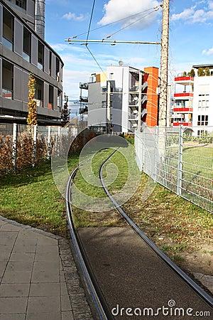Suburb tramway rail street
