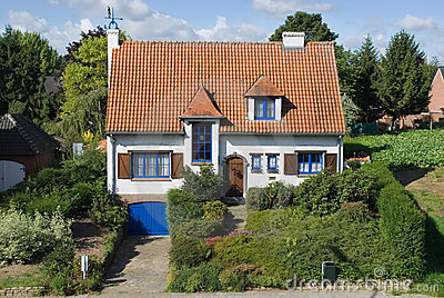 Suburban house in summer