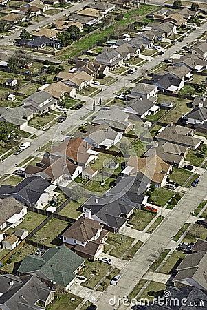 Suburban Neighborhood Aerial