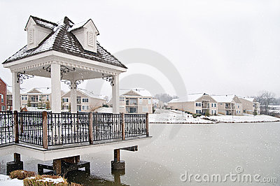 Suburban Neighborhood Homes On The Water