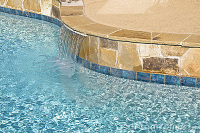Suburban Pool Water Feature