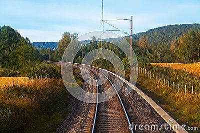 Suburban railroad track