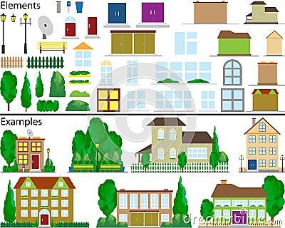 Suburban small houses.