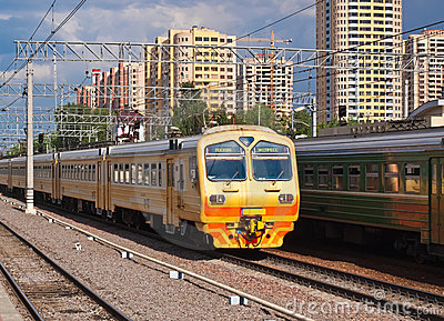 Suburban Train Royalty Free Stock Images - Image: 9570989